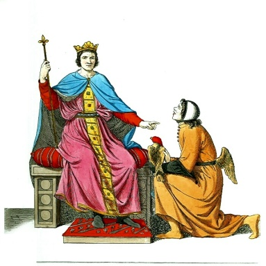 Man_or_King_on_Throne_with_Kneeling_Man_(Supplicant)