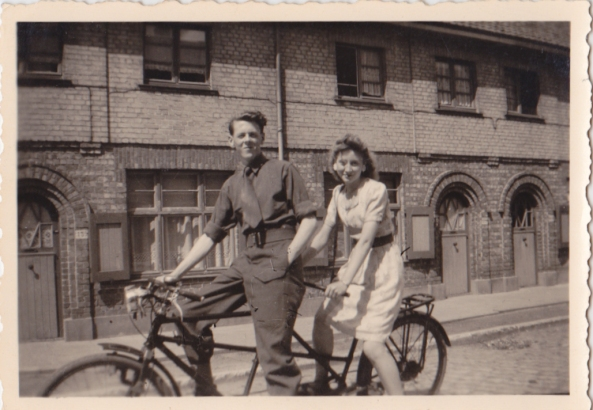Mum n Dad on bike