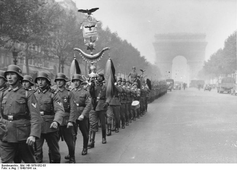 Paris, deutsche Wachtparade